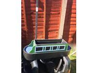 Barge boat planter