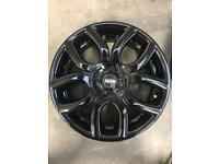 """Mini Cooper S alloy wheels 17"""" refurbished gloss black"""
