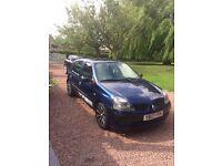 2003 Renault Clio 1.5 diesel, 12 months MOT, £20 Tax