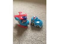 Selection of baby toy vehicles