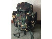 Large 45 litre tracpac rucksack in khaki never been used