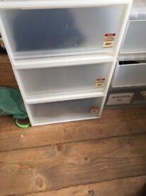 Muji Large storage draws (set of 3)