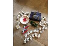 Box Of Christmas Decorations - (18 Pieces) - See listing & All Photos