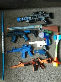 Boys toy guns bundle