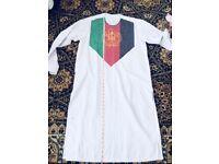 Asian afghan men suit clothes Afghanistan flag Eid