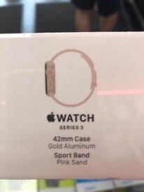 Apple Watch series 3 42mm gold aluminium pink sand