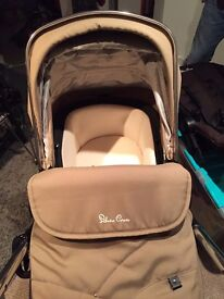 Sand coloured Silvercross Wayfarer pram 2 years old in good condition.