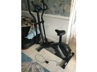 Roger Black 2in1 Cross Trainer and Exercise Bike Like New