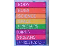New 8 mini encyclopaedia science book set