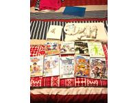 Nintendo Wii plus fit board and games