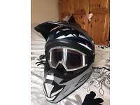Motor x helmet fox goggles
