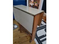 1950s drop leaf formica kitchen table dining