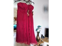 2 x Stunning Burgundy Bridesmaid / Prom / Evening Dresses ~ Brand new with tags
