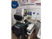 15 needle industrial embroidery machine