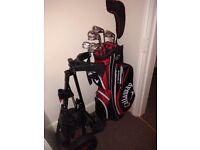 Golf Clubs/Bag & Push Trolley