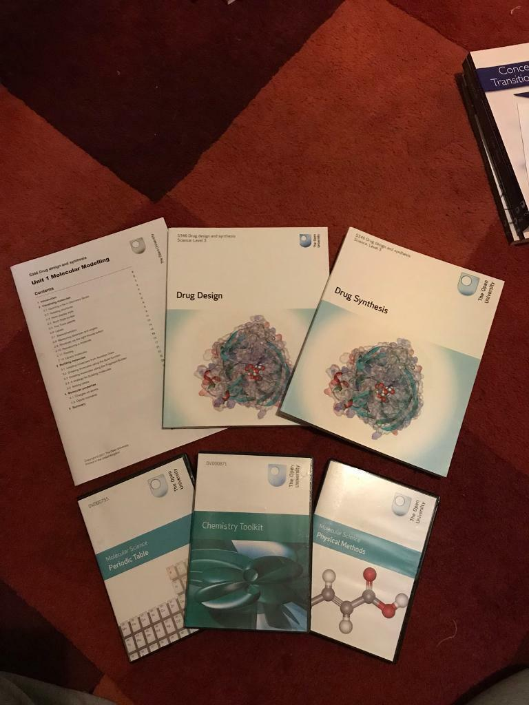 Open University's S346 Drug Design and Synthesis level 3 course books / materials