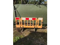 Traffic management road barriers temporary site fencing.