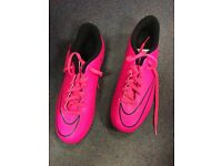 Nike pink Astro/mounded boots size 5 BRAND NEW
