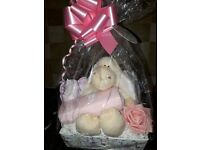 New baby gift basket - blue or pink available