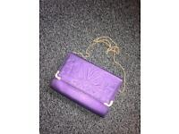 Purple Shoulder/Clutch Bag