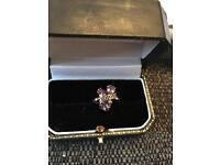9ct Gold Amethyst and Diamond Ring (with valuation)