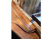 Vintage roll top desk as a kit of parts, needs full restoration