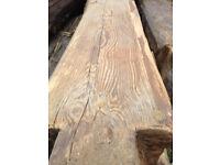 Reclaimed timber rustic beams