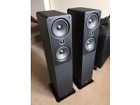 Q Acoustics 2050 Floorstanding Speakers plus Chord Cables