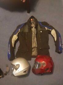 Jacket and Helmets