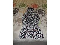 Girls animal print dressing gown aged 7/8 years.