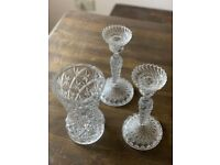 3 pieces of glass ware