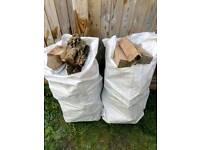 One bag of outdoor seasoned ash and oak logs