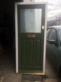 Modern Solid Wood Door & Frame H: 213cm x W: 92cm