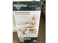 Baby Dan Wooden Bed Guard-White
