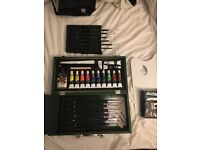 Brand new box of Oil paints and brushes