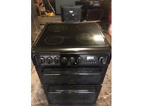 Black hot point ceramic halogen electric cooker 60cm