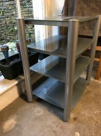 AV Shelving Unit - Silver