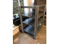AV Shelving Unit - Silver