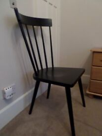 Black dining/bedroom chair