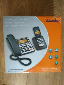 Binatone Concept Combo 3525 Twin Corded & DECT Combo Phone-brand New