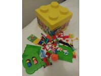 Lego and hello kitty megabloks bricks
