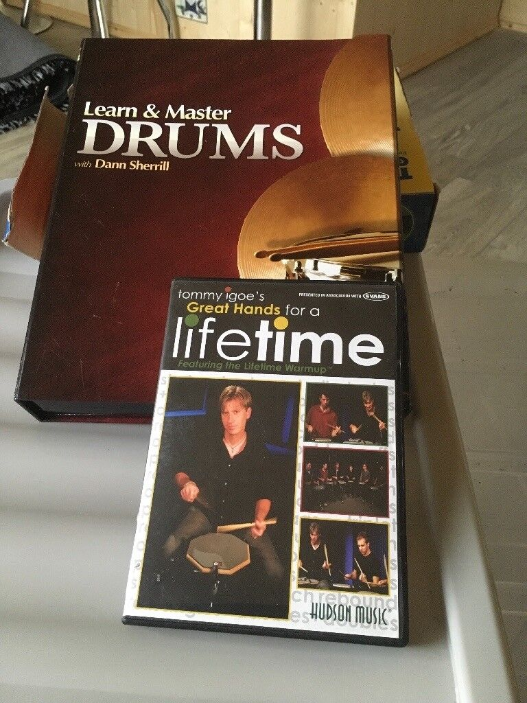 learn and master drums course +great hands for life by tommy igoe