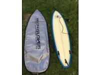 Body Glove surfboard/leash + board bag