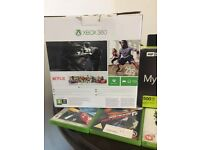X Box360+2 Controllers +10 Games Very Good Condition with All wires ,Like New Only £ 80