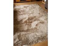 Beautiful NEXT shag pile shimmer rug size 170x230 colour mink