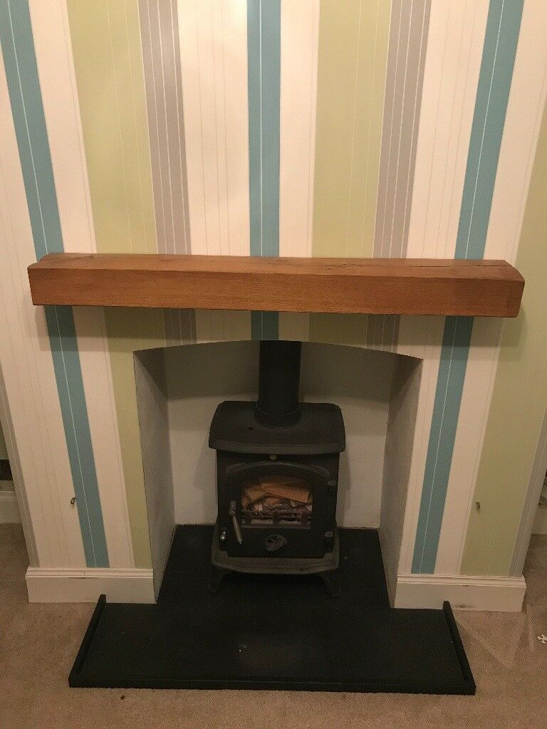 Solid Oak Beam Floating Mantel Shelf Fire Place Surround