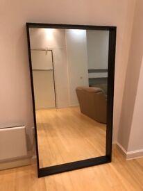 Walnut-framed mirror