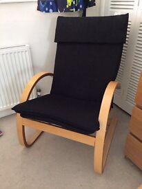Black Fabric Armchair