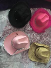 4 fancy dress cowboy hats