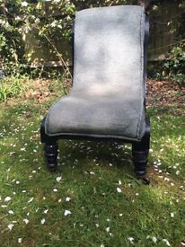 Vintage low nursing chair